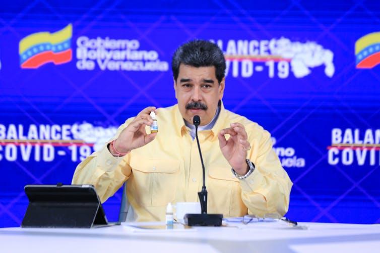 """Carvativir, las """"goticas milagrosas"""" de Maduro contra el coronavirus"""
