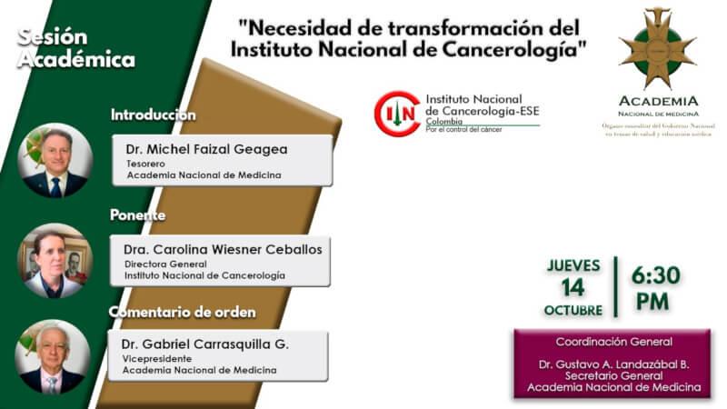Necesidad de Transformación del Instituto Nacional de Cancerología